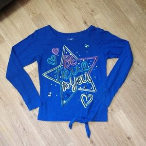 Justice size 10 (2tops) blue long sleeve